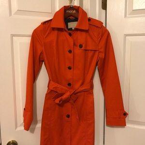 Banana Republic Blood Orange Rain/Trench Coat